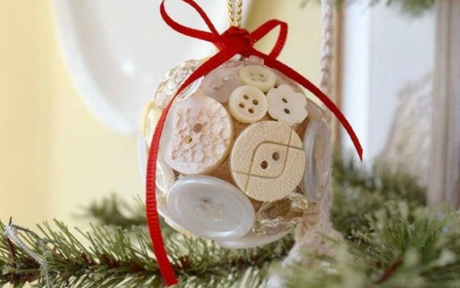 s 15 quick and easy gift ideas using buttons, Or spice up your plain and boring ornaments