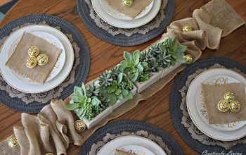 DIY Farmhouse Inspired Tablescape {for the Holidays}