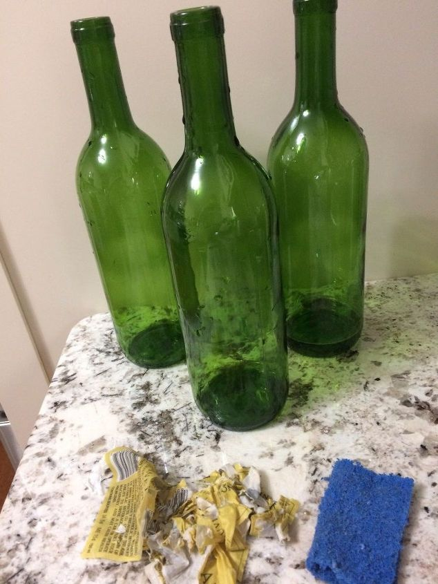 wine bottle christmas decor easy and inexpensive christmas decorations home decor clean bottles