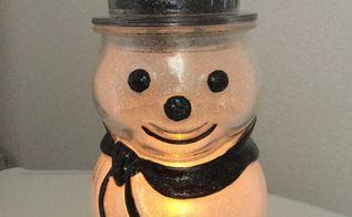 easy glitter snowman