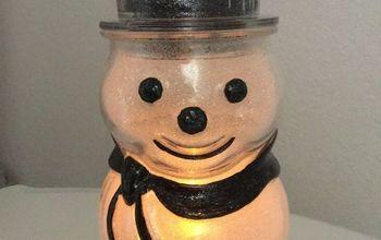 Easy Glitter Snowman!
