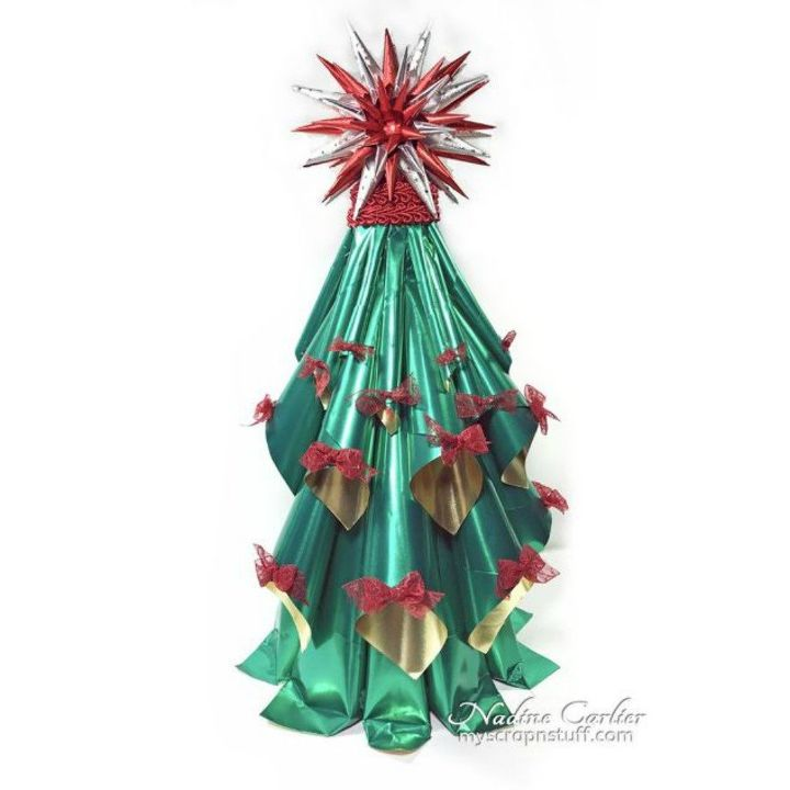 s fold tin foil for these breathtaking christmas decor ideas, christmas decorations, home decor