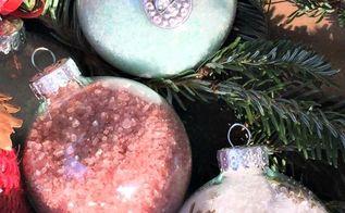 christmas ornament bath salts, bathroom ideas, christmas decorations, seasonal holiday decor