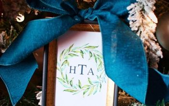 framed monogram ornament and free printable, christmas decorations, seasonal holiday decor