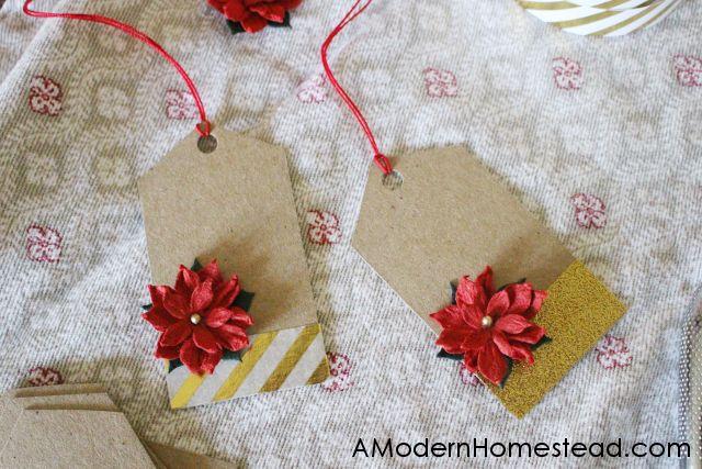 easy handmade christmas gift tags - Christmas Tags Handmade