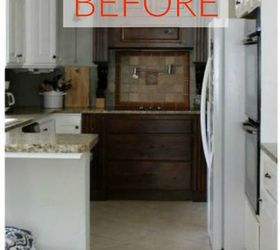 Before: A White And Brown Kitchen