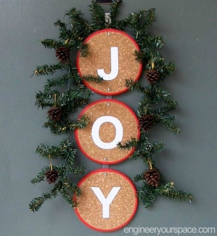 s 11 gorgeous ideas that will change the way you see cork board, Like this gorgeous holiday door decor
