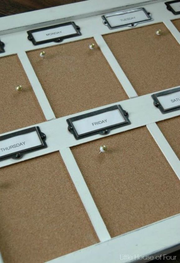 s 11 gorgeous ideas that will change the way you see cork board, Like this efficient weekly organizer