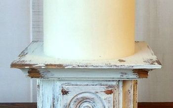 easy chippy paint candle holder