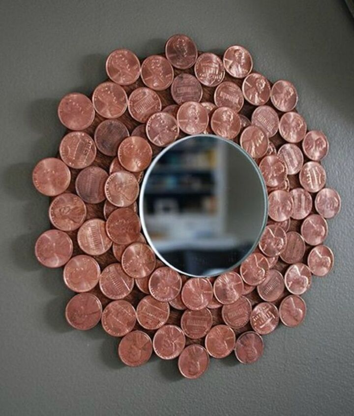 s save your pennies for these 12 jaw dropping decor ideas, home decor, This gorgeous starburst copper colored mirror