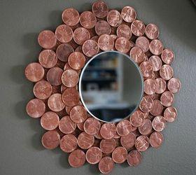 This Gorgeous Starburst Copper Colored Mirror