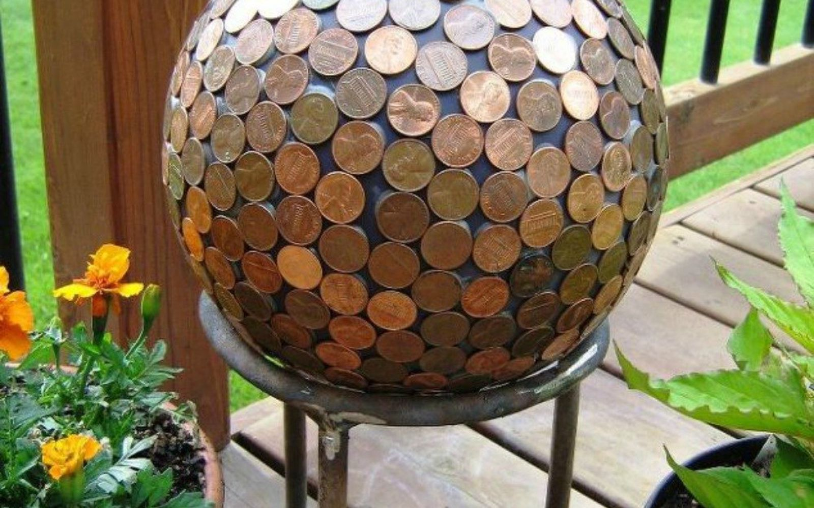 s save your pennies for these 12 jaw dropping decor ideas, home decor, This coppery piece of garden decor