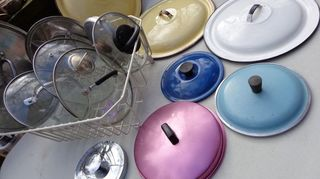 , Variety of pan lids for upcycling