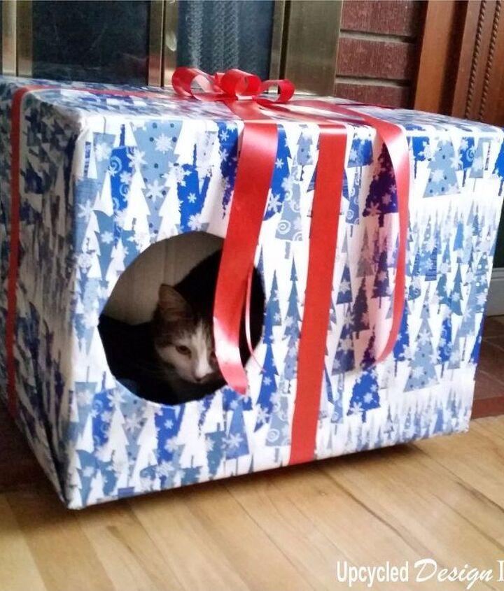 christmas boxes kitty cat condo