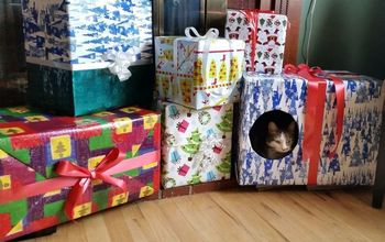 christmas boxes kitty cat condo
