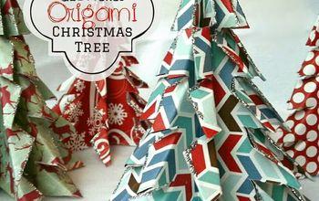 Glittered Origami Christmas Trees