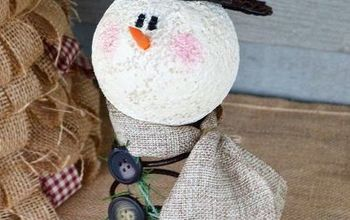 rusty the old bed spring snowman