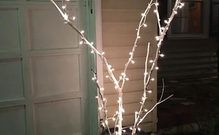 twig x mas lights, gardening