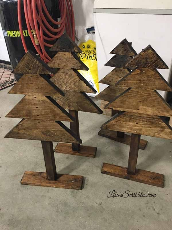 diy christmas rustic trees