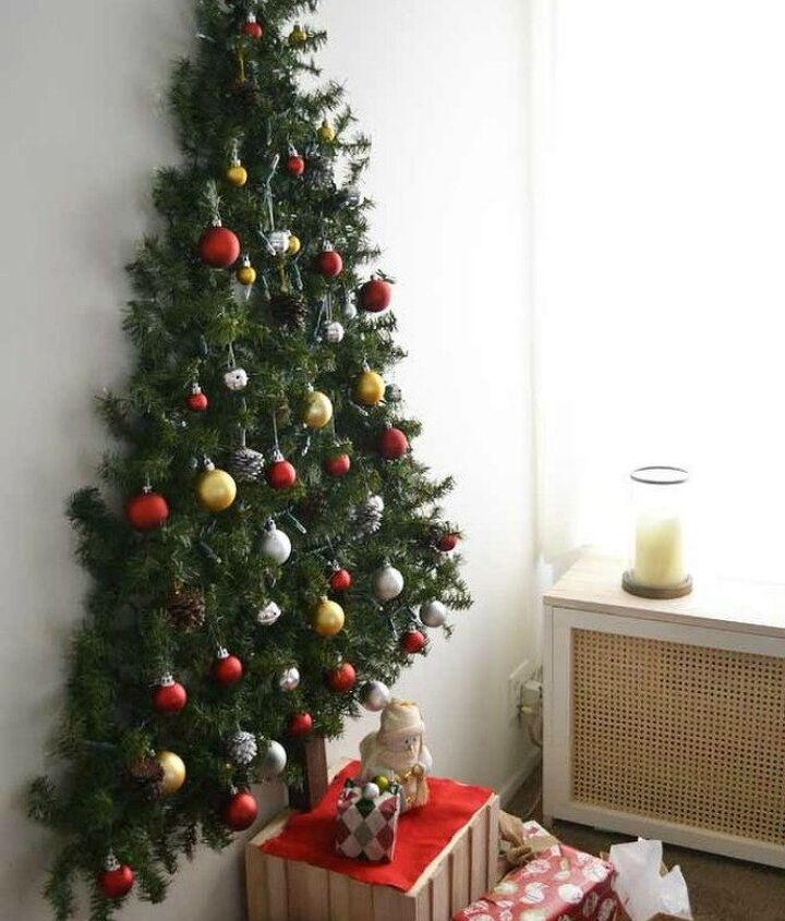 s forget your traditional christmas tree these are even better, Mount your tree to the wall