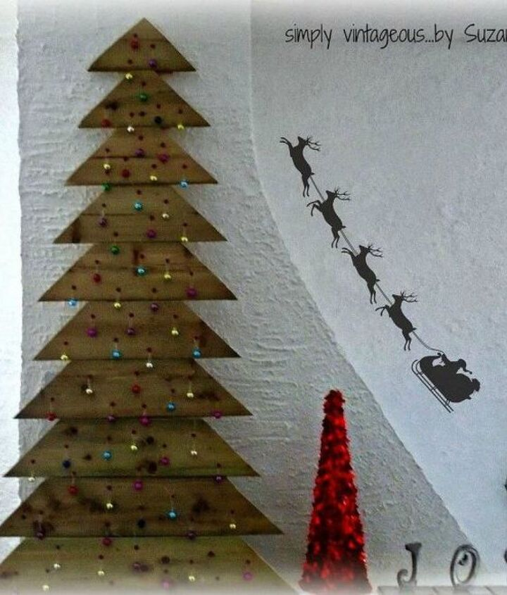 s forget your traditional christmas tree these are even better, Or use up some old fence planks
