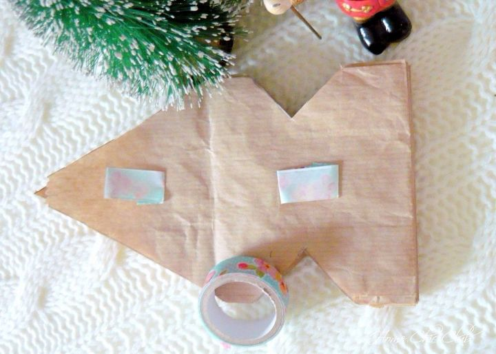 christmas paper bag snowflakes in 5 minutes