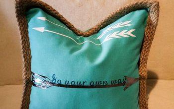 diy pillows from plain to designer