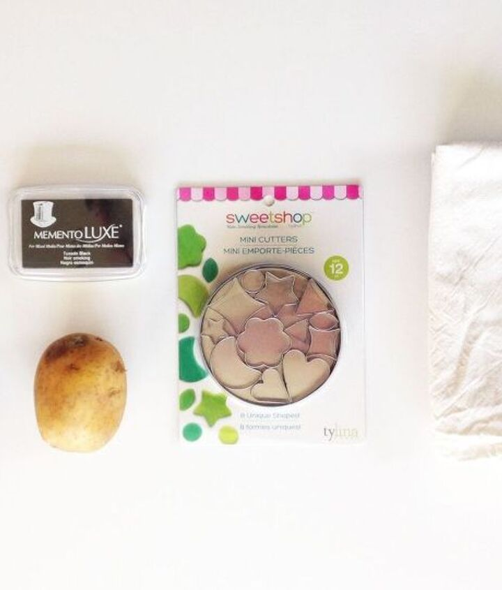 potato print tea towels, bathroom ideas, gardening
