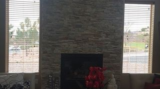 My 12 Foot Ceilings Made It A Four Day Project To Let Set And Ilize By Layers But Worked Out Well I Found Real Stone Veneer Tiles Do The
