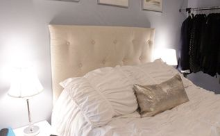 diy affordable tufted headboard