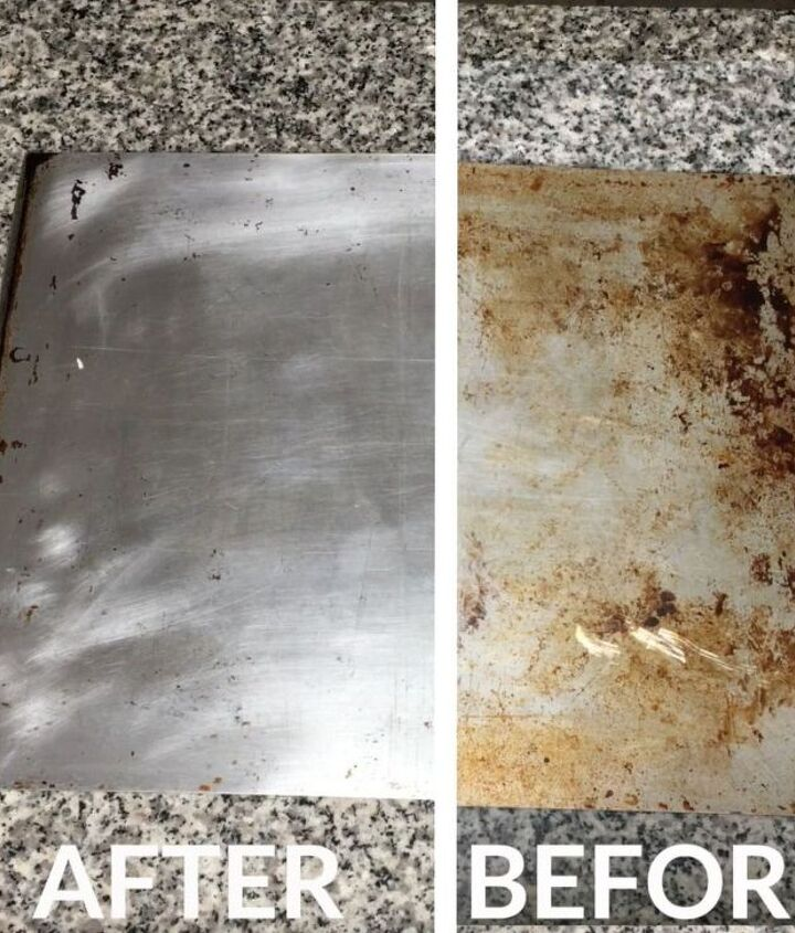 how to clean your old cookie sheet, cleaning tips, how to