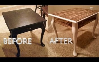 DIY Paint Stick Table