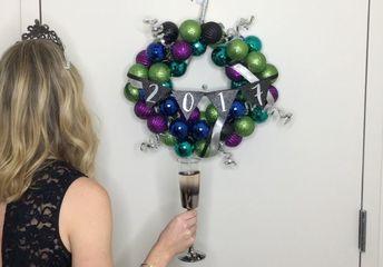 new year s eve hanger wreath, crafts, wreaths