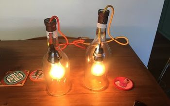How to Make a Pendant Light With an Alcohol Bottle.