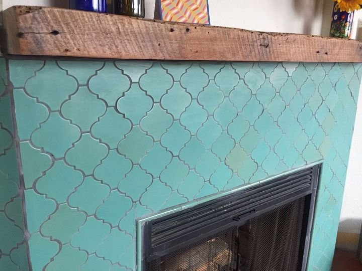 fireplace makeover learn how to tile, fireplaces mantels, how to