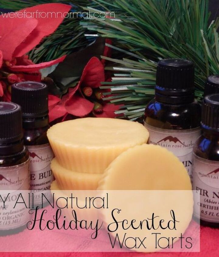 all natural christmas scented wax tarts