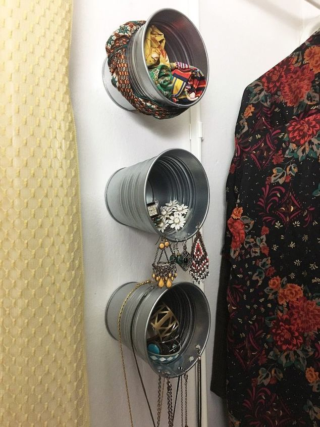 galvanized bucket jewelry storage, storage ideas