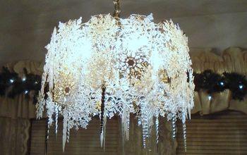 beautiful snowflake chandelier, lighting