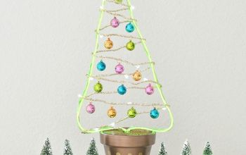diy flower pot christmas tree, gardening