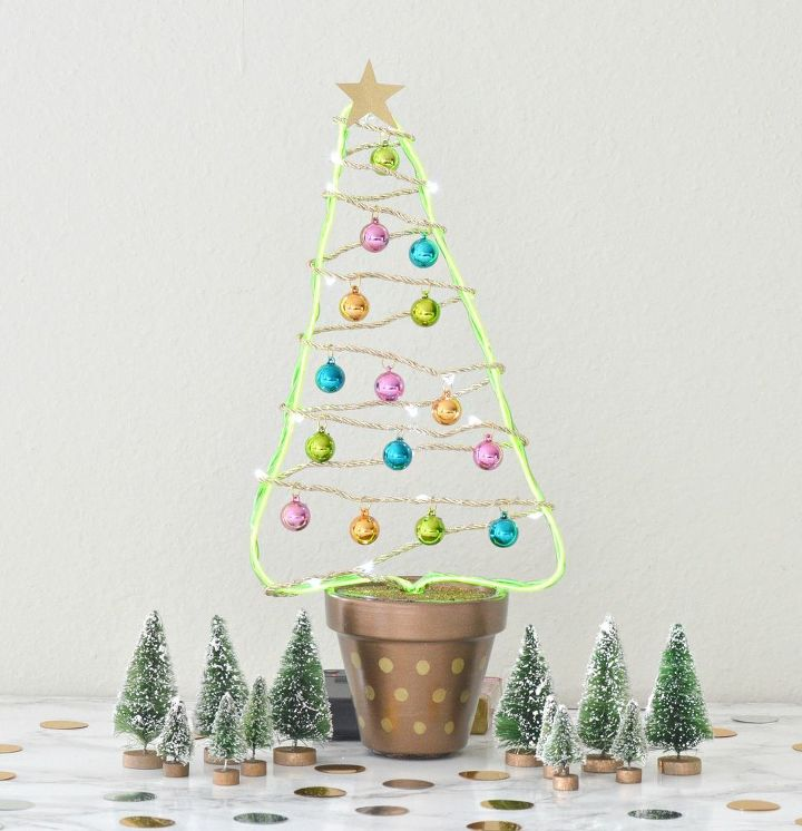 diy flower pot christmas tree, gardening