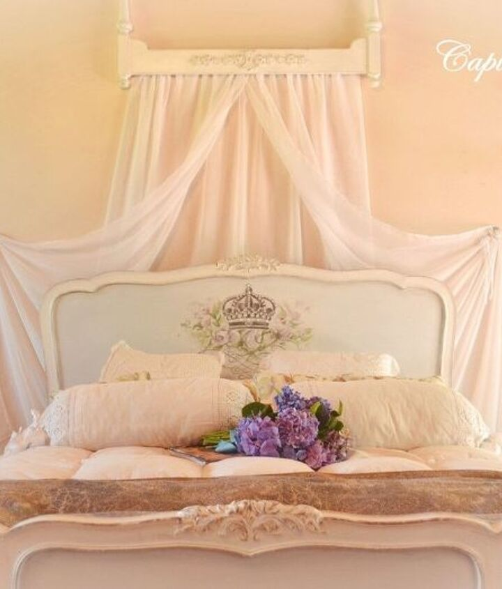 a bed with canopy