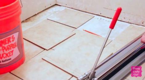 Small Bathroom Renovation Tile Floor Installation Hometalk