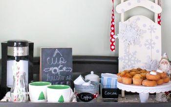 A Festive Christmas Coffee and Cocoa Bar