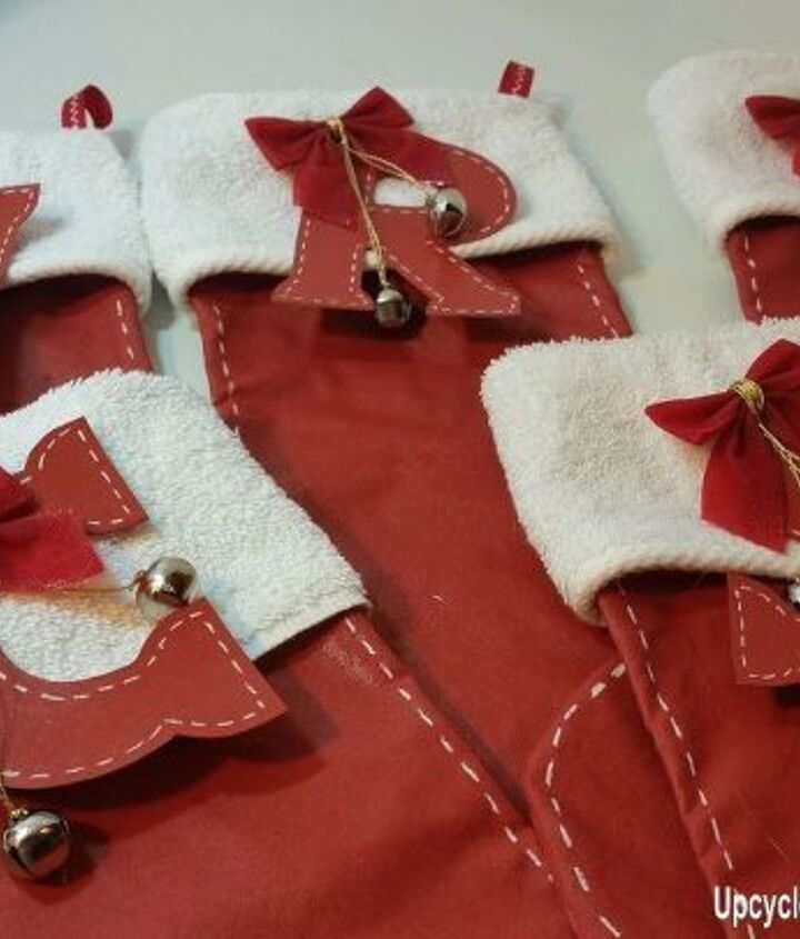 upcycled christmas stockings using what i have on hand, repurposing upcycling
