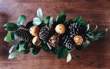 Rustic Winter Spiced Orange Pomanders Table Centerpiece