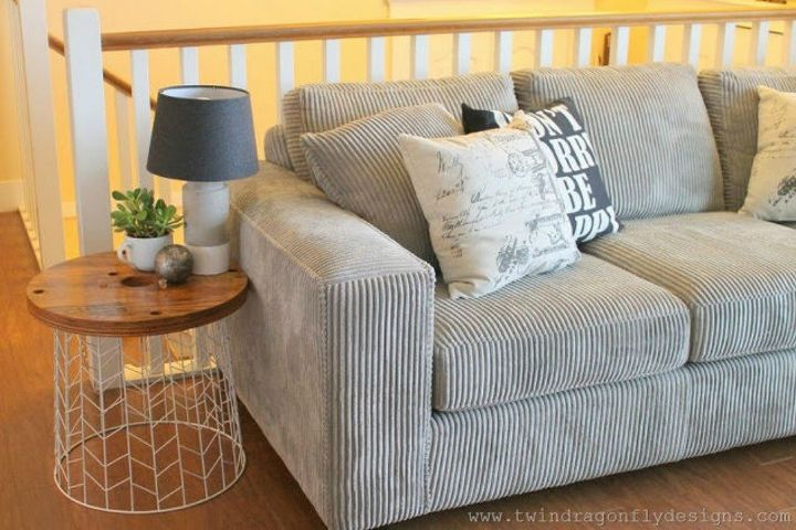 s 14 amazing basket ideas from highly creative moms, crafts, Transform them into a unique side table