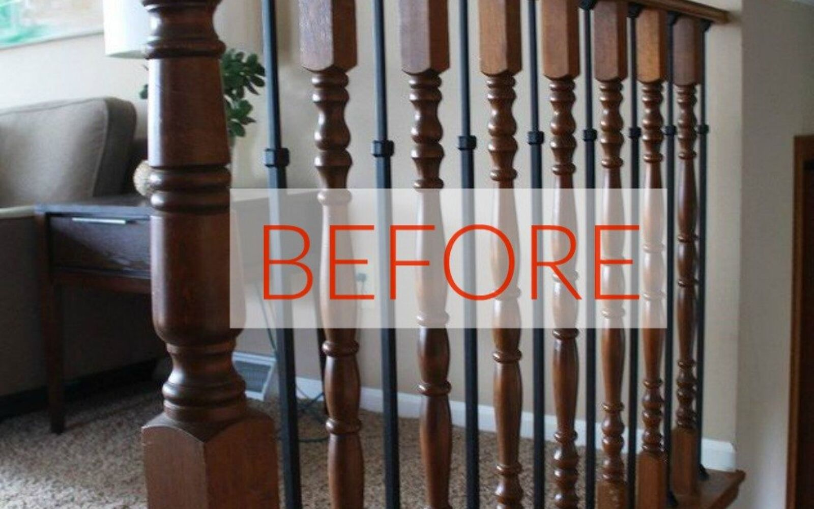 s stop everything these banister makeovers look ah mazing, Before Outdated Oak