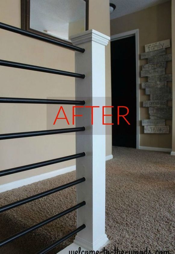 s stop everything these banister makeovers look ah mazing, After A modern piece of innovation