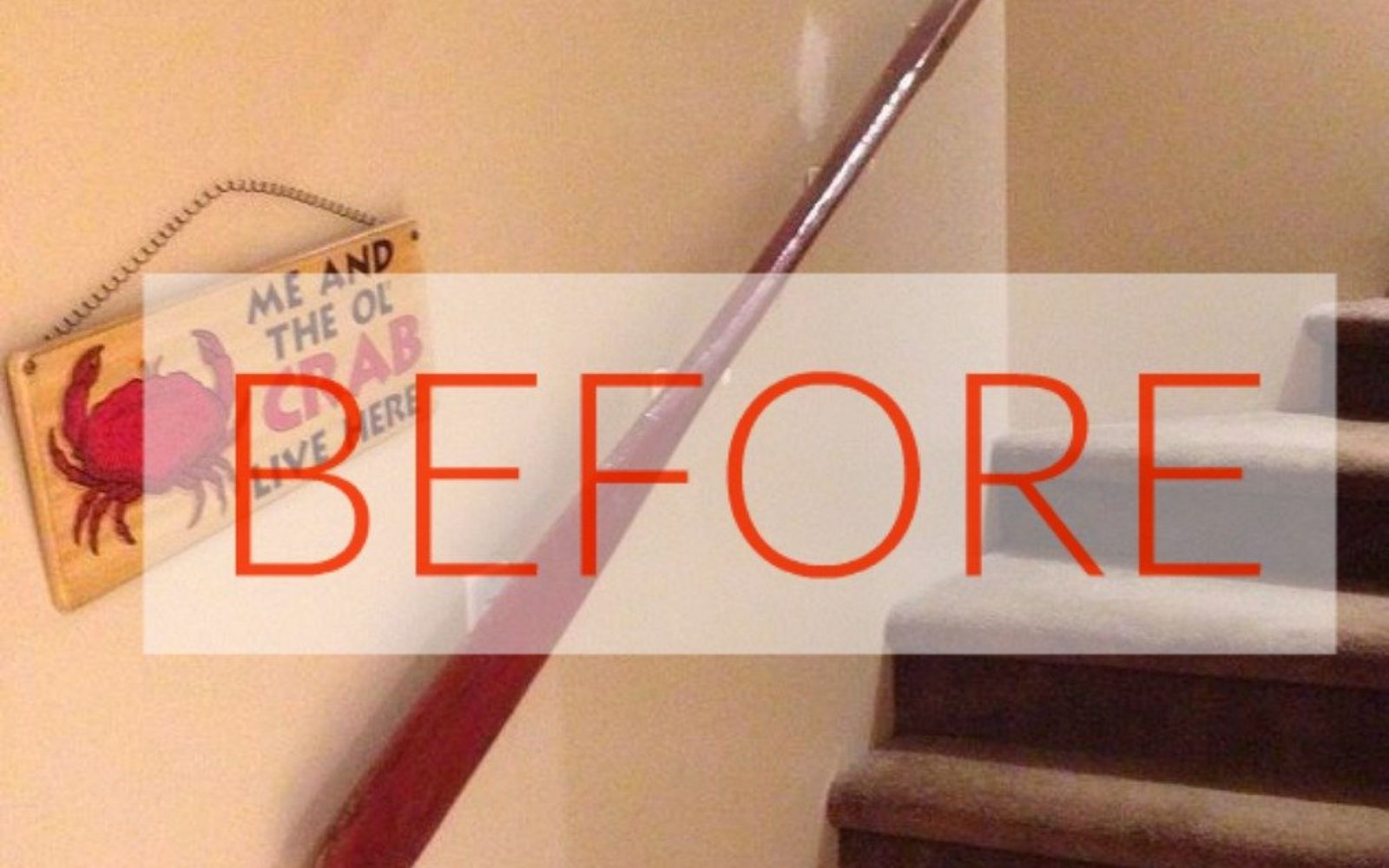 s stop everything these banister makeovers look ah mazing, Before Beige nightmare
