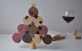 how to create a christmas tree with wine corks, how to